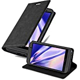 Cadorabo Book Case Compatible with HTC One M9 in Night Black - with Magnetic Closure, Stand Function and Card Slot - Wallet Etui Cover Pouch PU Leather Flip