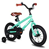 JOYSTAR Kids Bike for Boys Girls 2 3 4 Years Old, 12 Inch Kids Bicycle with Training Wheels, Child Bicycle with Foot Brake, Children Cycle - Green