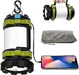 Wsky LED Camping Lantern Rechargeable, T2000 High Lumen Light Flashlight, 6 Modes, High Capacity Power Bank - Best Lantern Flashlight for Camping Outdoor Hurricane Emergency Everyday Light Flashlight