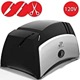 Knife Sharpener Electric 3-in-1 Tool - Sharpening Machine for Knives, Scissors, Screwdrivers - 2 Stage Multi-Angle Sharpen Kitchen Appliance Kit