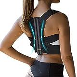 VANRORA Posture Corrector for Women and Men, Fully Adjustable & Comfy Upper Back Brace, Support Straightener for Spine, Back, Neck, Clavicle and Shoulder, Improves Posture and Pain Relief S/M