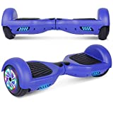 UNI-SUN Hoverboard for Kids, 6.5' Two Wheel Self Balancing Hoverboards with LED Lights for Adults, UL 2272 Certified Hover Board (Blue Without Bluetooth)