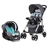 Evenflo Vive Travel System with Embrace Infant Car Seat, Spearmint Spree