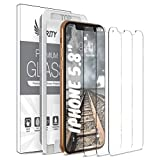 Purity Screen Protector for Apple iPhone 11 Pro/iPhone Xs/iPhone X - 3 Pack (w/Installation Frame) Tempered Glass Screen Protector Compatible iPhone XS/X/11Pro (3 Pack) [Fit with Most Cases]