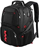 Backpacks for Men, Extra Large Travel Laptop Backpack Gifts for Women Men with USB Charging Port,TSA Friendly Business Computer Bag College High School Bookbags Fit 17 Inch Laptops 45L,Black