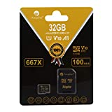 Amplim TF Card 32GB Micro SD Plus Adapter. for Cell Phone, Tablet, Camera