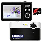Digital Camera, 40MP 1080P Rechargeable Pocket Travel Camera with Macro Function, 16X Digital Zoom Slim Vintage Point and Shoot Camera 2.4 Portable Blogging Camera for Teens Seniors