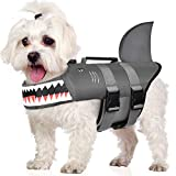 Petacc Dog Life Jacket Adjustable Pet Safety Vest Ripstop Dog Life Preserver with Rescue Handle, Reflective Strip, S