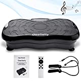 Deefielly Mini Vibration Plate Whole Body Workout Vibration Fitness Platform Home Training Equipment for Adult Weight Loss with Bult-in USB Speaker