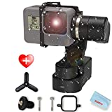 FeiyuTech WG2X with Mini Tripod 3-Axis Wearable Gimbal Splash-Proof Stabilizer Compatible for Gopro Hero 8/7/6/5 Session Xiaomi Yi 4K SJCAM Action Camera(NOT Include Hero 8 Adapter)
