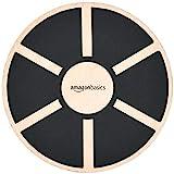 AmazonBasics Wood Wobble Balance Board - 16.2 x 16.2 x 3.6 Inches, Black