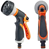 AXYOFSP Garden Hose Nozzle Spray Nozzle,8 Watering Patterns Metal Heave Duty Water Nozzle,High Pressure Nozzle Sprayer for Watering Plants, Cleaning, Car Wash and Showering Dog & Pets