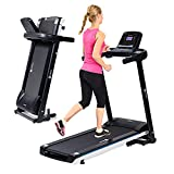 Lifepro Foldable Treadmill for Home - Portable Small Treadmill for Apartment - Mini Folding Treadmill for Walking & Running - Electric Smart Compact Treadmill with Bluetooth, Tablet Holder