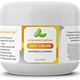 Hot Cream Cellulite Treatment – Belly Fat Burner for Women and Men – Natural Anti Aging Cream with Antioxidants and Essential Oils Rosemary Lavender Aloe – Deep Tissue Massage & Muscle Relaxer