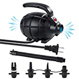 Newtion Electric Air Pump Black - 110V AC/600W Air Mattress Pump Inflator/Deflator with 4 Nozzles,Portable Quick-Fill Pump for Outdoor Camping, Inflatable Cushions, Airbeds, Boats, Swimming Ring