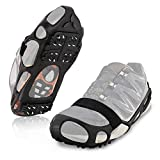 ZOMAKE Ice Cleats for Shoes and Boots, Walk Traction Crampons for Walking on Snow and Ice, Men Women Anti Slip 24 Spikes Cleat