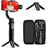 Hohem 3-Axis Gimbal Stabilizer for iPhone 11 PRO MAX X XR XS Smartphone w/Inception Sport Mode Object Face Tracking Motion Time-Lapse Quick Balance Handheld Gimbal for Vlog Youtuber Live Video