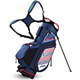 Golf Stand Bag for Men Navy 14 Way Divider Golf Bags, 6LB Lightweight Portable Walking/Riding Bags with Dust Cover, Strap