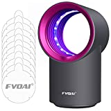 FVOAI Fly Trap Indoor, Fruit Fly Catcher Mosquito Killer Insect Trap with Sticky Glue Boards(Black) (Pink)