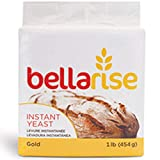 Bellarise (Gold) Instant Dry Yeast - 1 LB Fast Acting Instant Yeast for Bread