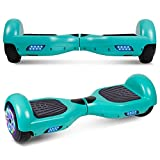 UNI-SUN Chrome Hoverboard for Kids, 6.5' Two Wheel Electric Scooter, Self Balancing Hoverboard with Bluetooth and LED Lights for Adults, UL 2272 Certified Hover Board (A02 Green(No Bluetooth))