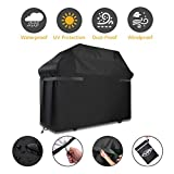 BBQ Grill Cover, Tvird Gas Grill Covers | 58-inch Heavy Duty Waterproof BBQ Cover | Fits Grills for Weber Char-Broil Nexgrill Brinkmann, Windproof, Rip-Proof, Weather & UV Resistant with Storage Bag