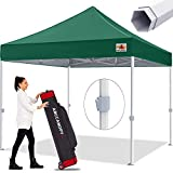 ABCCANOPY Premium Pop up Canopy Tent Outdoor Commercial Grade Instant Shelter, Bonus Wheeled Carry Bag and 4 Sand Bags, Forest Green