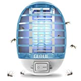 GLOUE Bug Zapper, Mosquito Killer Electronic Insect Killer Fly Trap Indoor, Electric Mosquito Zapper with Blue Lights for Home, Kitchen, Bedroom, Baby Room, Office