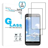 KATIN HTC One M9 Screen Protector - [2-Pack] 9H Hardness Tempered Glass For HTC One M9 Bubble free