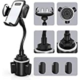 Car Cup Holder Phone Mount, Sopownic Cup Phone Holder for Car Universal Adjustable Gooseneck Car Phone Holder for iPhone 11 Pro/11/X/8/7/6s/ Galaxy S10/S9/Note 10/9/8 GPS and More