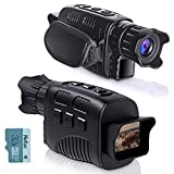 KINKA Night Vision Goggles Night Vision Monocular, Travel Infrared Digital Day and Night Vision for Adults, HD Photo & Video with 32GB Card, for Hunting Gear, Surveillance, Spy, Military