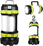 APLUSTE LED Camping Lantern, Rechargeable Portable Lantern Flashlight, 3600mAh Power Bank, Two Way Hook of Hanging, Perfect for Hurricane, Emergency Light, Outdoor Recreations, USB Cable Included