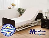 Pressure Redistribution Foam Hospital Bed Mattress - 3 Layered Visco Elastic Memory Foam - 80' x 36' x 6' - Hospital Grade Nylon Cover Included - by Medacure
