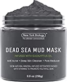 New York Biology Dead Sea Mud Mask for Face and Body Infused with Eucalyptus - Spa Quality Pore Reducer for Acne, Blackheads and Oily Skin - Tightens Skin for A Healthier Complexion - 8.8 oz