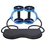 ZaRoing Fitness Wheels Roller, Multifunctional AB Roller Exercise Equipment Elastic Abdominal Muscle Resistance Pull Rope AB Trainer Power Roll AB Trainer Train Core Abdominal Machine Strengthen