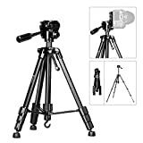 Moman Travel Camera Tripod with 360° Panorama Ball Head, 20-58.3 Inches Height, 6.6 lbs Max Payload, Aluminum Alloy Tube for DSLR SLR Canon Nikon Sony Olympus Camera Camcorder