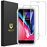 UNBREAKcable iPhone 8 Plus Screen Protector, iPhone 7 Plus Screen Protector [2-Pack] - Double Defense Series Premium Tempered Glass Screen Protector for iPhone 8 Plus/ 7 Plus 5.5 Inch
