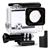 Yimobra Waterproof Housing Case for Gopro Hero 4 and Hero 3+ with Quick Release Mount and Thumbscrew Protective 147FT 45M Underwater Photography Dive Hero Transparent (Presented One More Clip)