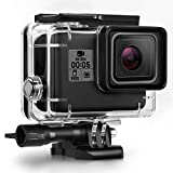 Kupton Housing Case Compatible with GoPro Hero 7 Hero 6 Hero 5 Black Hero 2018 Waterproof Case Diving Protective Housing Shell 45m with Bracket Accessories, Compatible with Go Pro Hero7 Hero6 Hero5
