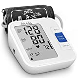 Blood Pressure Monitor Upper Arm by Alcedo  Automatic Digital BP Machine with Wide-Range Cuff for Home Use   Large Screen, 2x120 Memory, Talking Function   Case and Batteries Included
