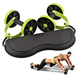 Molibays Ab Wheel Roller Muliti-Function Abdominal Trainer Waist Slimming Back Trainer Core Workout Home Core Workout Gym Equipment (Green, One Size)