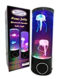 NEMO Jelly Bluetooth Speaker Table Light - Best Unique Color Changing LED Jellyfish Aquarium - Wireless Portable Speaker Sleep Aid, Night/Mood Light, Relaxing, Special Needs Kids