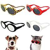 Retro Oval Small Dogs Cats Eye Wear Party Favors Pet Sunglasses Set Cute Funny Cosplay Dolls Costume Photo Props