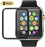 Apple Watch Screen Protector 3 Pack Update 3D Clear Scratch Resistant Anti-Bubble Tempered Glass Film Compatible with Apple iWatch Series 4-44mm