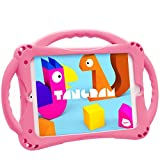 TopEsct Kids Case for iPad Mini 5 4 3 2 1,Silicone Childproof for All Kinds of iPad Mini, Built-in Handle Stand, Comes with a Strap. (Pink)