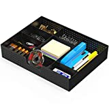 Simple Houseware Drawer Organizer Tray with 9 Adjustable Compartments, Black