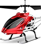 SYMA RC Helicopter, S37 Aircraft with Altitude Hold, 3 Channel, Sturdy Alloy Material, Gyro Stabilizer and High &Low Speed, Multi-Protection Drone for Kids Toys and Beginner to Play Indoor-Red