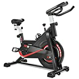 RELIFE REBUILD YOUR LIFE Exercise Bike Indoor Cycling Bike Fitness Stationary All-inclusive Flywheel Bicycle with Resistance for Gym Home Cardio Workout Machine Training New Version