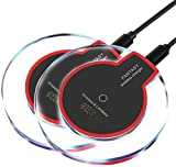 2Pcs Wireless Charger,2Pcs 10W/7.5W/5W Wireless Charging Pad Compatible with iPhone 8/8plus iPhone X/11 Samsung Galaxy S9/S8/S7/S6/Edge/Plus/S6 Active,Moto Maxx, Moto Droid Turbo 2/Turbo