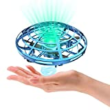 Hand Operated Drones for Kids or Adults,Hands Free Mini Drone, Easy Indoor Small UFO Flying Drone Toys for 6, 7, 8, 9, 10, 11,12 Boys and Girls(Blue).